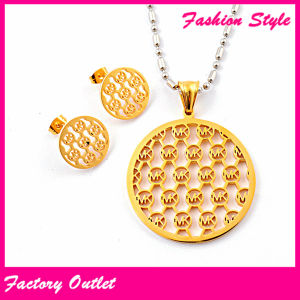 New Fashion Girl Design Rose Gold Stainless Steel Jewelry Set (AS17)