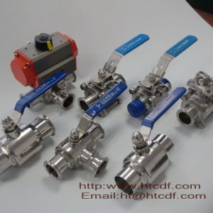 Sanitary Stainless Steel Steam Ball Valve with Pneumatic Actuator