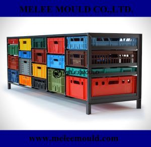Recylced Turned Home Storage Plastic Crates Mould pictures & photos