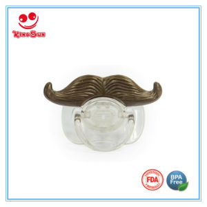Silicone Baby Pacifier with Mustache pictures & photos