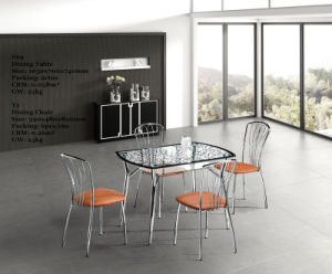 Modern Glass Dining Table for 4