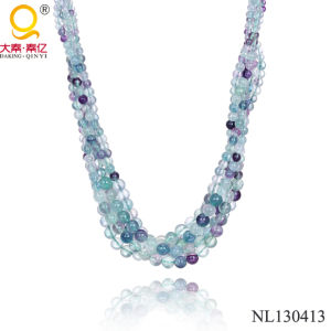 2014 Natural Stone Fluorite Necklace pictures & photos