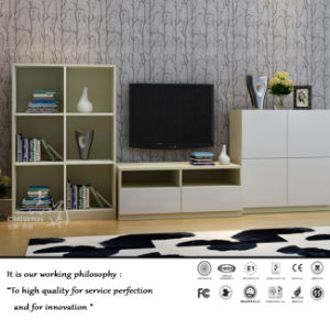 White Melamine TV Cabinet for Living Room (ZH-1053) pictures & photos