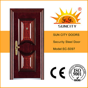 Hot Sale Reinforced House Design Iron Door pictures & photos