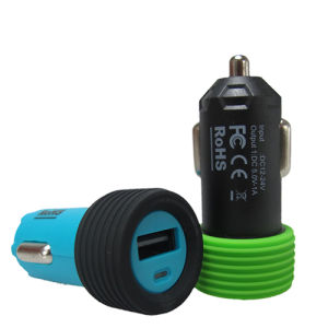 Tire Pattern Bottom Single Output Car Charger for USB Charger pictures & photos