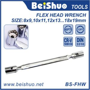 Auto Hand Tools Double Flex Head Socket Wrench Set pictures & photos