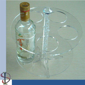 Popular Sale Acrylic 5 Wines Stand