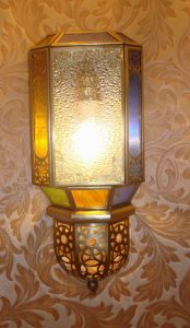 Pw-19038 Copper Wall Lamp with Glass Decorative pictures & photos