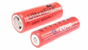 Lampes : le Luxmètre a parlé ! (avec nouveau test) 18650-26650-Battery