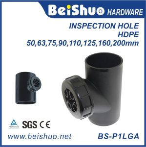 Black PE Plastic Water Pipe Fittings for Connector pictures & photos