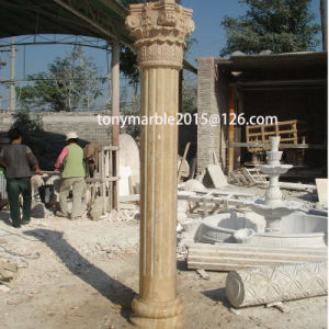 Beige Stone Sculpture Column (SY-C001) pictures & photos
