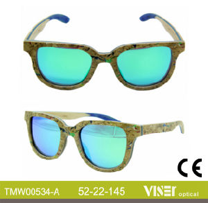 Fashion Wooden Sunglasees with High Quality (534-A) pictures & photos
