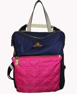 New Arrival Ladies Nylon Leather Backpack BS13011