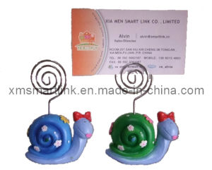 Polyresin Sculpture Snail Decor Paper Card Clip Gifts pictures & photos
