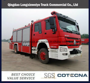 HOWO 8 Doors Fire Trucks for Emergency Rescue pictures & photos