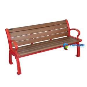Outdoor Garden Park Bench with Red Color (FY-023X)