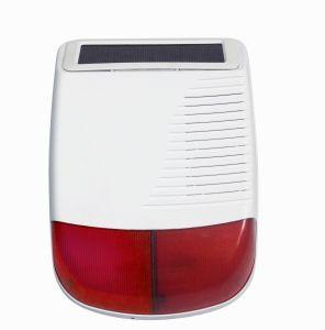 Solar Powered Wireless Strobe Siren with 105db Alarm Sound pictures & photos