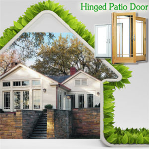 Hot Selling Thermal Break Aluminum Hinged Door for High End House, America Style Aluminum Clad Solid Wood Hinged Door pictures & photos