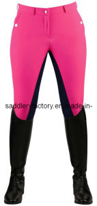 Equestrian Equipment Cotton Spandex Lady Horse Riding Jodhpurs / Breeches (SMB3055) pictures & photos