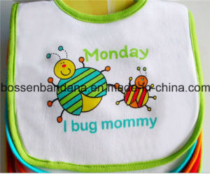OEM Produce Customized Design Printed Cute Cartoon Cotton Terry Infant Baby Bibs pictures & photos