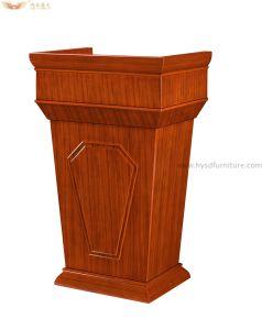 Wood Veneer Speech Table Lectern Podium for School Furniture pictures & photos