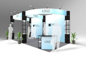 3X6m Reused Tension Fabric Folding Column Trade Show Booth pictures & photos