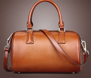 Cow Leather Ladies Satchel Bag, OEM/ODM (491) pictures & photos
