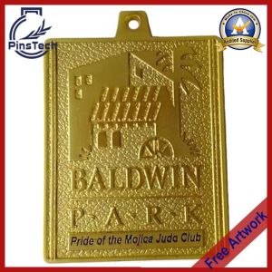 Customized Sports Medal with Matt Gold Finish pictures & photos
