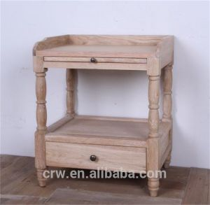 OA-4072 Classical Style Solid Oak Bedside Table pictures & photos