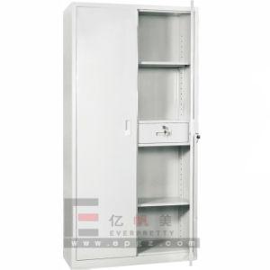 2-Door Strong Steel Storage Cabinet, Adjustable Shelves Steel Filing Cabinets (DG-34) pictures & photos