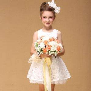 china children party design frocks clothing flower kids