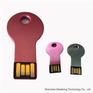 Custom Printed Logo Metal Key Shape Pen Drive pictures & photos