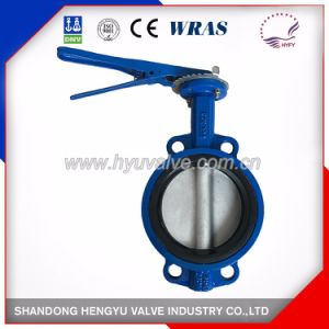 Cast Iron Wafer Type Butterfly Valve with Single Shaft pictures & photos