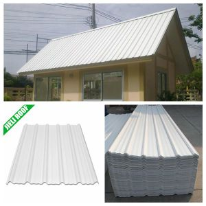 UPVC Material Trapezoidal Corrugated Roofing Sheet pictures & photos