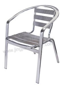 Stackable Aluminium Dining Patio Outdoor Garden Furniture (JJ-A03)