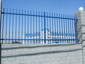 Two Rail Steel Picket Fence