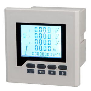 Three-Phase Electric Network Multifunction Power Meter (LCD) with Transmission pictures & photos
