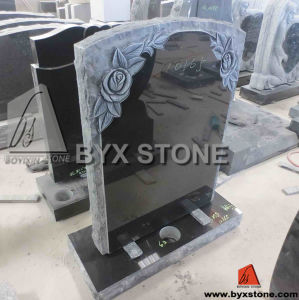 Standard Upright Headstone / Monument with Flower Carving pictures & photos