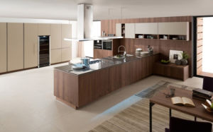 Pole Melamine MDF PVC Kitchen Cabinets (zg-005) pictures & photos