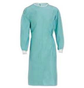 Disposable Non-Woven Surgical Gown with Elastic / Knitted Cuff pictures & photos