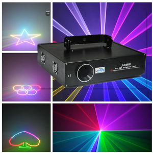 1W RGB Animation Laser Show 25kpps Ilda Text pictures & photos
