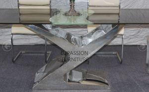 Modern Stainless Steel Glass /Marble Table pictures & photos