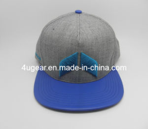 Custom Leather Brim Snapback Hat
