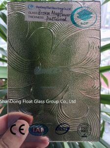 Bronze Mayflower Patterned Glass with Ce, ISO (3-8mm) pictures & photos