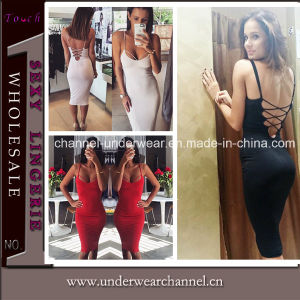 Stylish Sexy Women Prom MIDI Club Party Dress (TP4537) pictures & photos