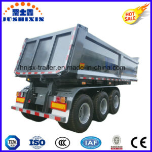 3 Axle Hydraulic Tipping Trailer Box Trailer Sold to Vietnam pictures & photos