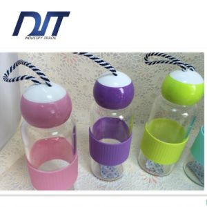 Customized Logo Glass Bottle Borosilicate Water Bottle 300ml pictures & photos