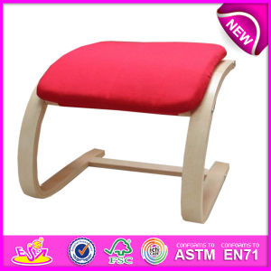 Top Quality Classic Upholstered Dining Chair for Kids, Elegant Wooden Toy Upholstered Dining Chairs, Wooden Relax Chair W08f026 pictures & photos