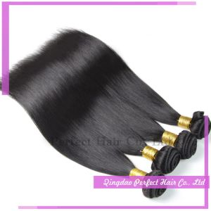 7A Mink Grade Double Weft Jet Black Indian Virgin Hair pictures & photos