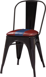 USA Style Cheap Black Metal Cafe Dining Chair (FOH-BCC17) pictures & photos
